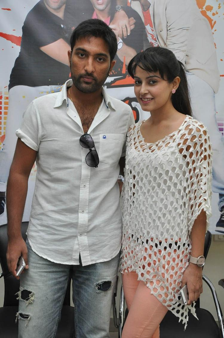 Vikram Veer And Disha Pandey Posed For Camera At Race Movie Press Meet