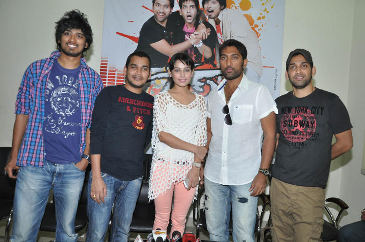 Vikram Veer And Disha Pandey Posed During The Race Movie Press Meet