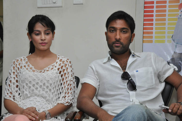 Vikram Veer And Disha Pandey Present At Race Movie Press Meet