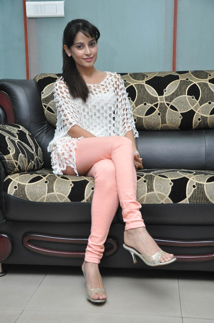 Disha Gorgeous Look Photo Still At Race Telugu Movie Press Meet