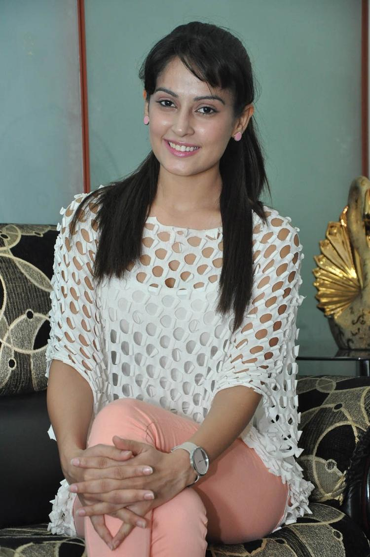 Disha Looked Ravishing In A White Ensemble At Race Telugu Movie Press Meet