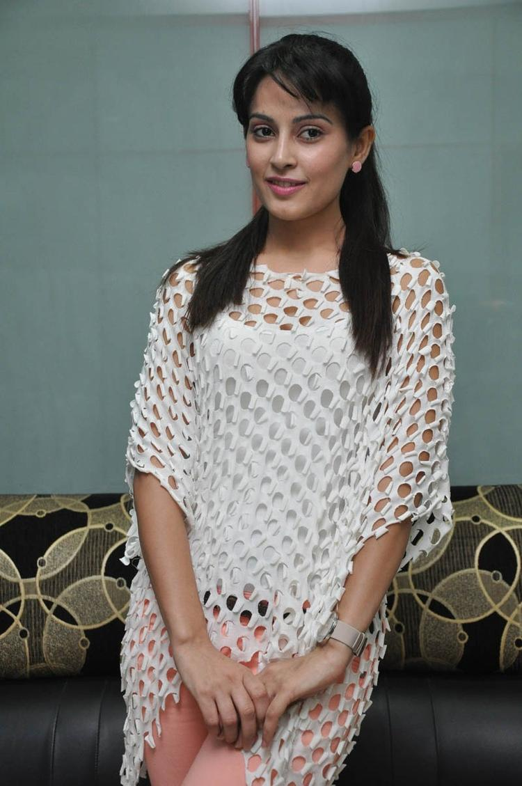 Disha Nice Look With Cute Smiling Still At Race Telugu Movie Press Meet