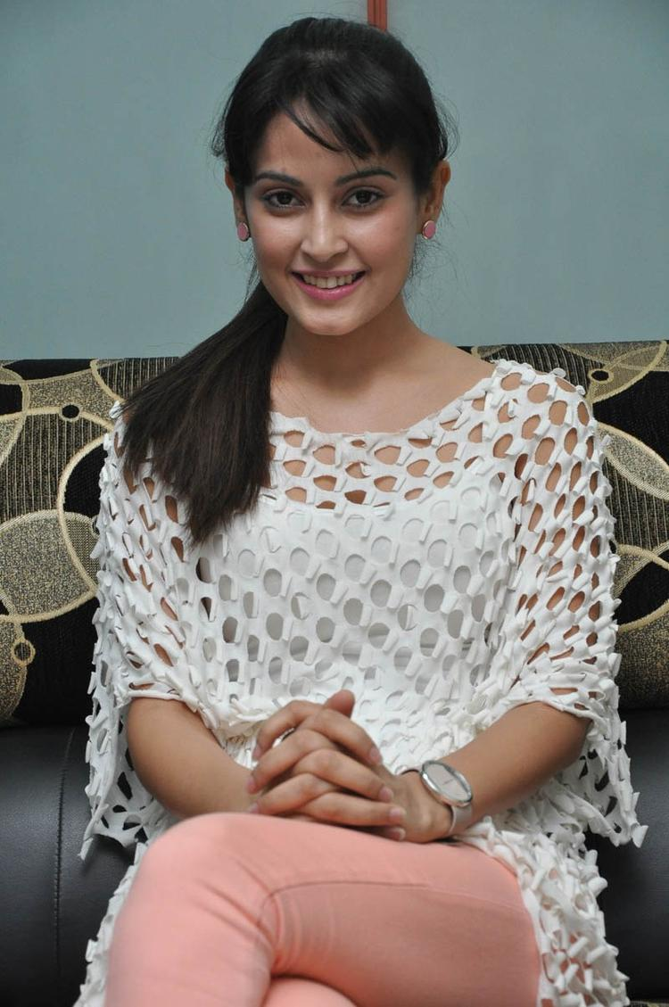 Disha Sizzling And Attractive Photo Still At Race Telugu Movie Press Meet