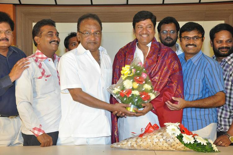 Rajendra With Team Members Snapped At Dream Telugu Movie Press Meet