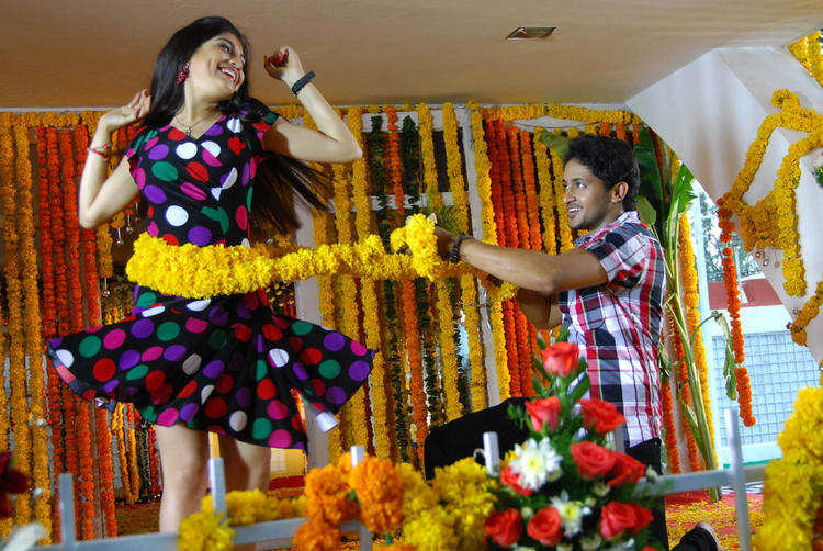 Priyadarshini And Manoj Nandam Dance Still From Youthful Love Movie