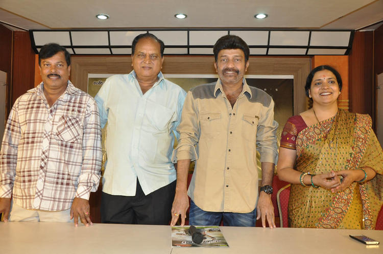 Surender,Chalapathi,Dr. Rajasekhar And Jeevitha Posed For Camera At Mahankali Movie Release Date Announcement Press Meet