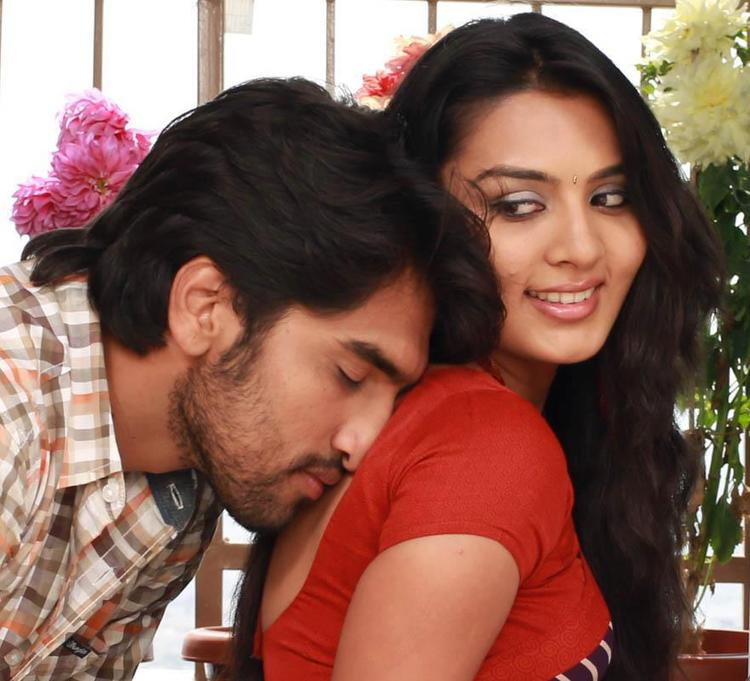 Anish And Sindhu Bach Kissing Photo Still From Movie Cofee With My Wife