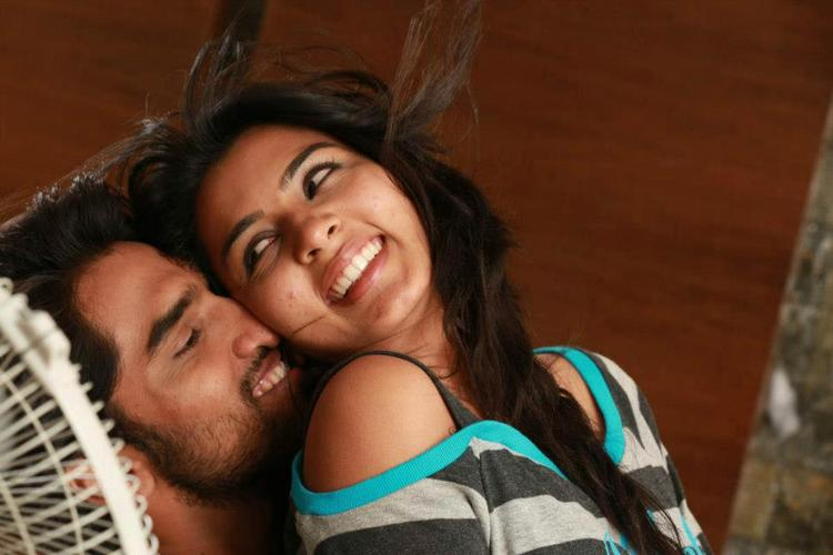 Anish And Sindhu Cute Smiling Photo Still From Movie Cofee With My Wife