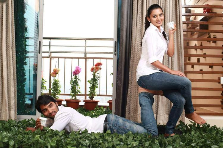 Anish And Sindhu Nice Pose Photo Still From Movie Cofee With My Wife