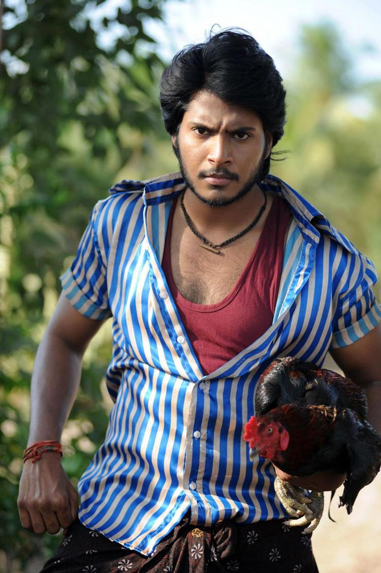 Sundeep In Lungi Photo Stills From Movie Gundello Godari