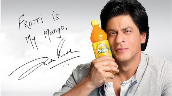 King Khan Handsome Look Photo Shoot For Frooti Mango Juice Print Ads