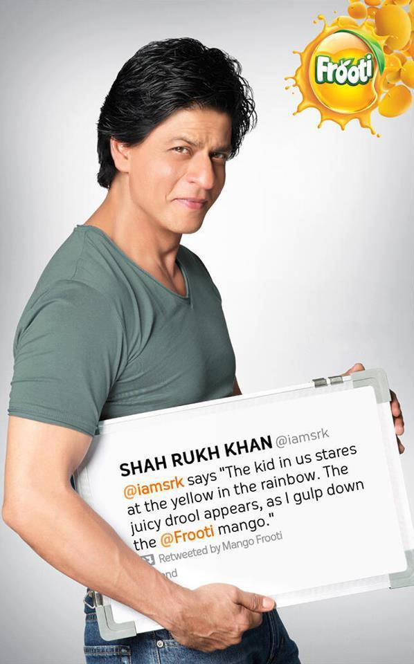 SRK Cool Dazzling Photo Shoot For Frooti Mango Juice Print Ads