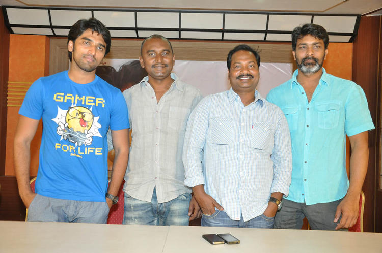 Anish And Vidyasagar With Guests Smiling Pose At Coffee With My Wife Telugu Movie Press Meet
