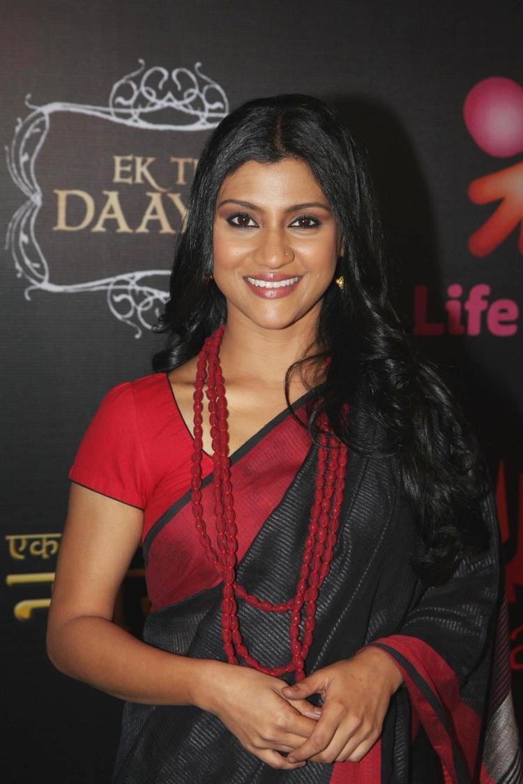 Konkona Sen Looked Gorgeous In A Black Saree At The Launch Of Life OK Serial Ek Thi Naayka