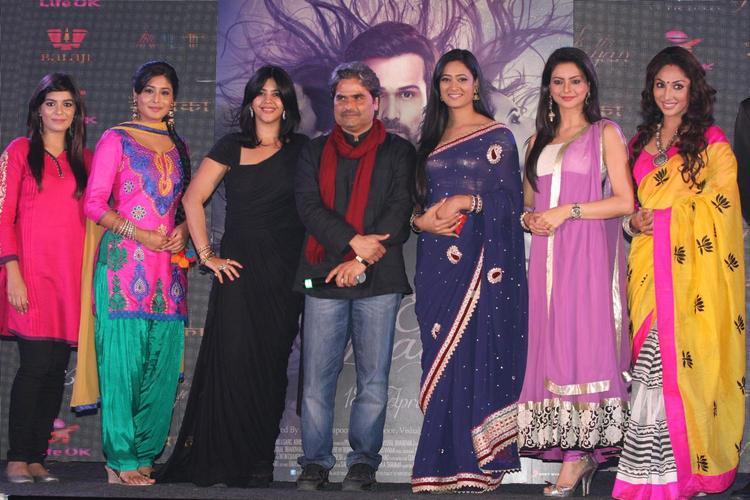 Pooja,Kritika,Ekta,Vishal,Shweta,Aamna And Mauli Posed For Camera At The Launch Of Life OK Serial Ek Thi Naayka