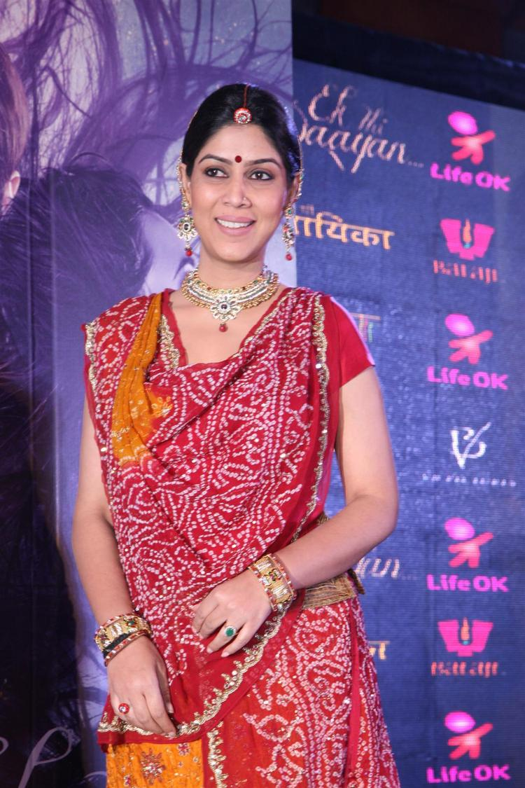 Sakshi In A Traditional Wear At The Launch Of Life OK Serial Ek Thi Naayka
