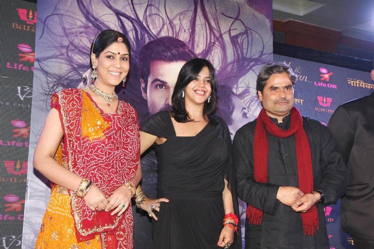 Sakshi,Ekta And Vishal Photo Clicked At The Launch Of Life OK Serial Ek Thi Naayka