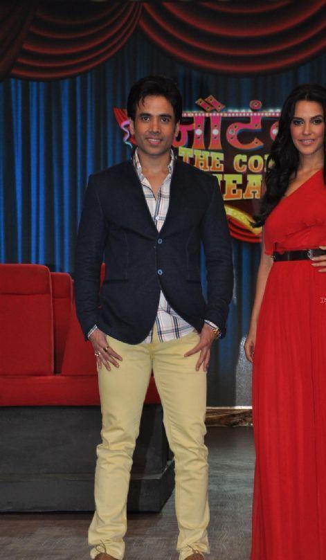 Tusshar Kapoor And Neha Dhupia Present At Nautanki The Comedy Theatre Show Launch Event