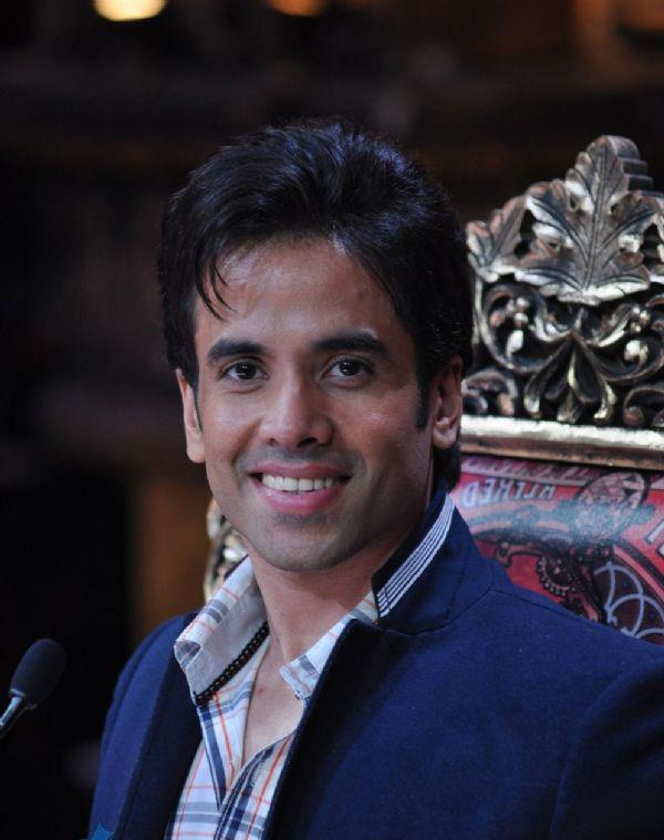 Tusshar Kapoor Flashes A Smile At Nautanki The Comedy Theatre Show Launch Event