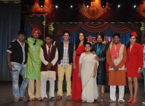 Tusshar,Neha,Raju,Kamya,Saloni And Gurpreet Posed At Nautanki The Comedy Theatre Show Launch Event
