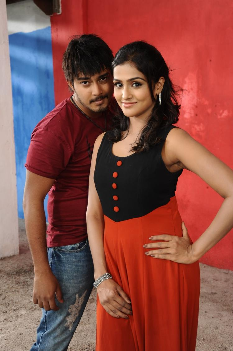 Tanish And Ramya Cute Smiling Photo Still From Movie Telugu Abbai