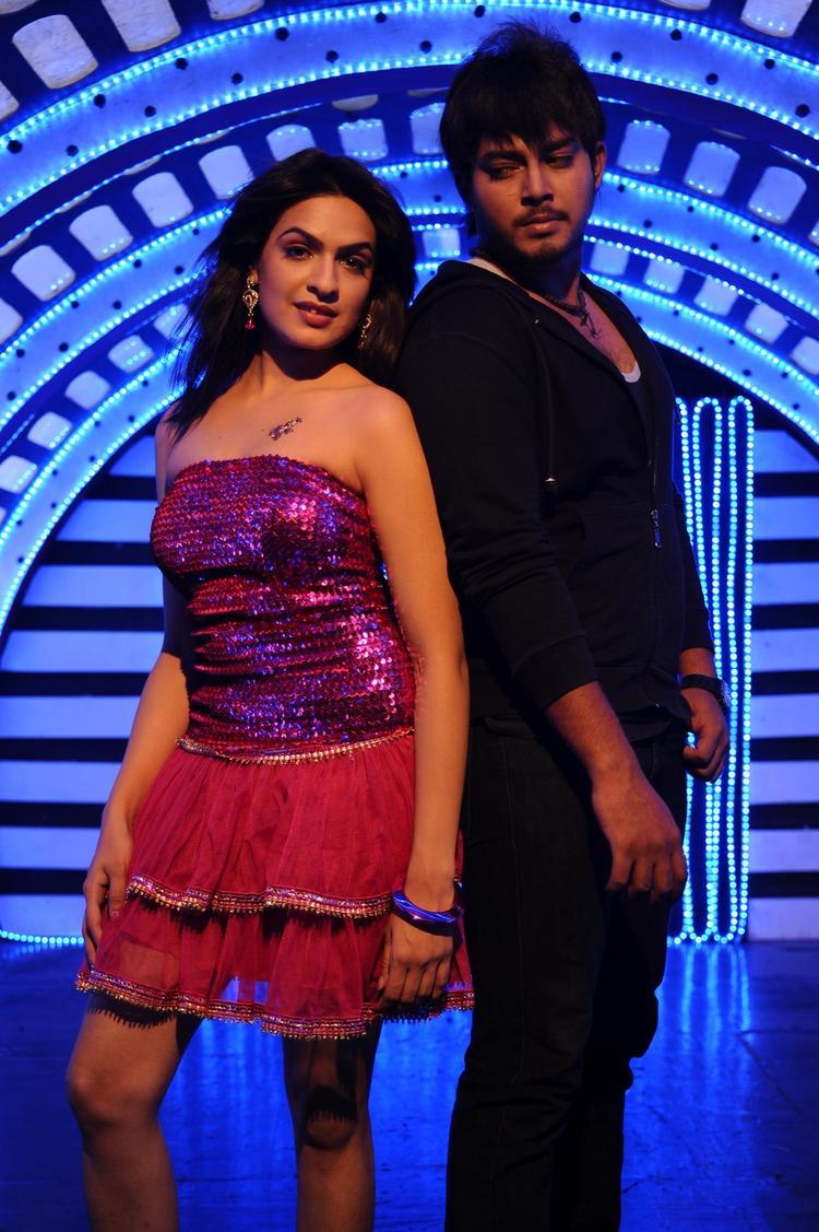 Tanish And Ramya Dancing Photo Still From Movie Telugu Abbai