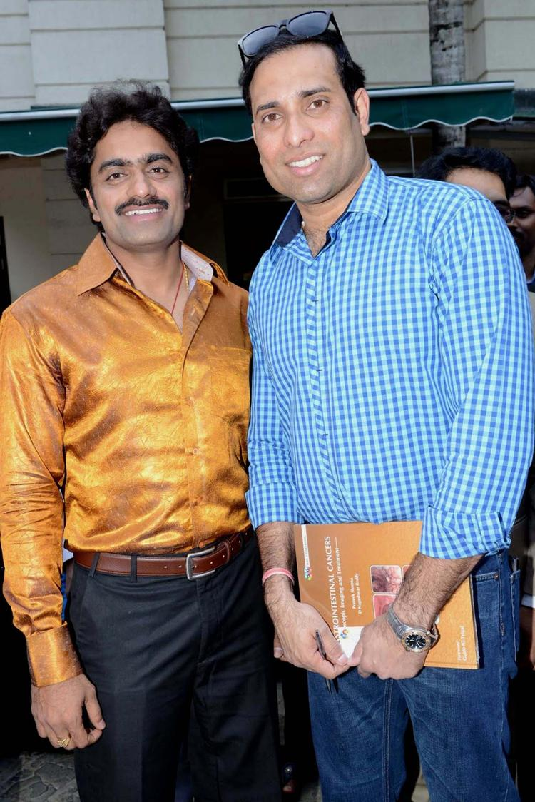Laxman And Nanda Kishore Smiling Pose At ITC Kakatiya