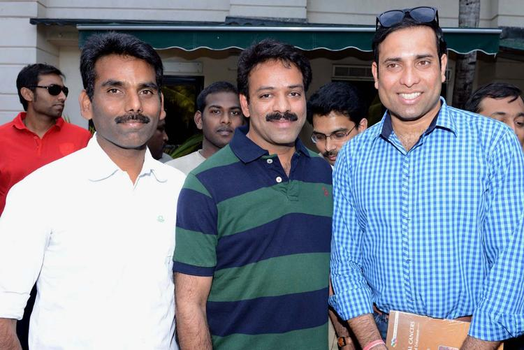 VVS Laxman Posed With Telugu Warriors At ITC Kakatiya