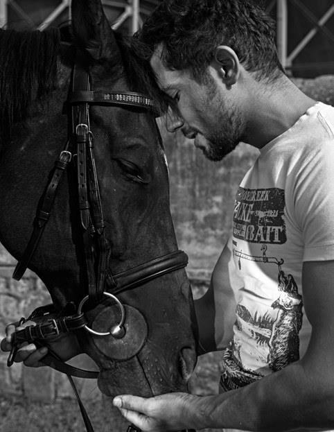 Randeep Hooda Sweet Moment With Horse Nice Photo Shoot For Hi! BLITZ Magazine March 2013