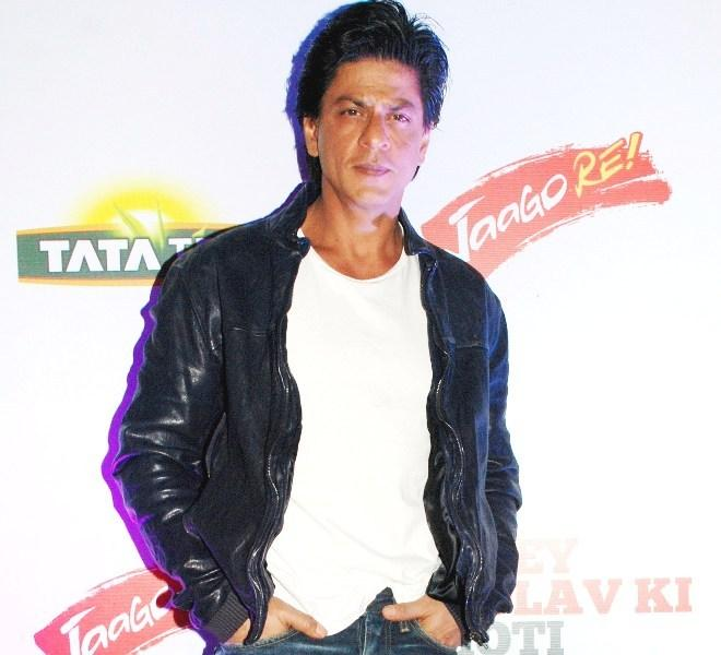 Shahrukh Khan Dappers Look At TATA Tea Jaago Re Press Conference