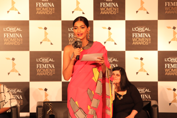 Sonam Kapoor During The L'Oreal Paris And Femina Women Awards Press Conference