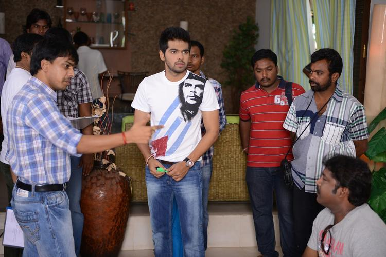 Director Nagu Gavara And Actor Adith Arun On The Sets Of Weekend Love Movie