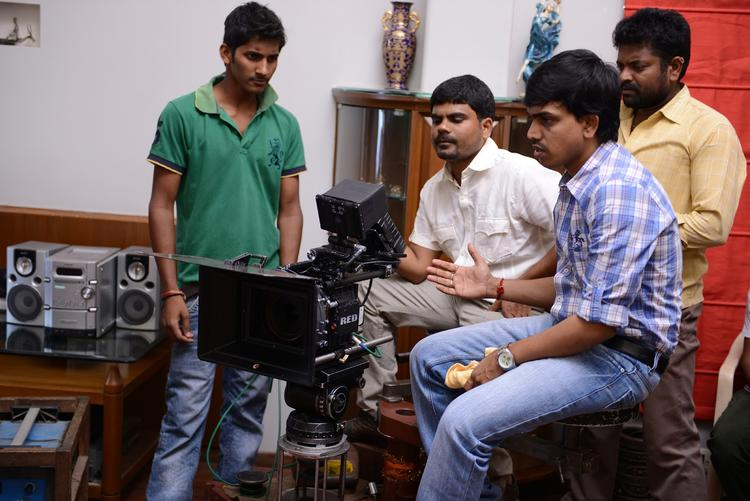 Director Nagu Gavara On The Sets Of Weekend Love Movie