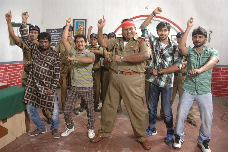 Jayaprakash Reddy Gangnam Style Dance Nice Still From Nutilo Kappalu Telugu Movie