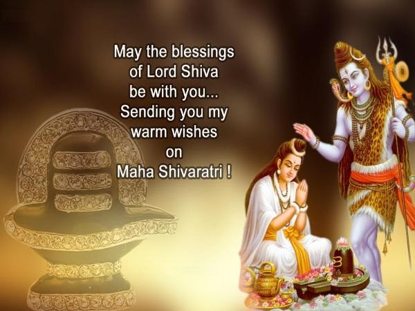 May Lord Shiva Bless You With Good Health And Prosperity Through Greeting Card