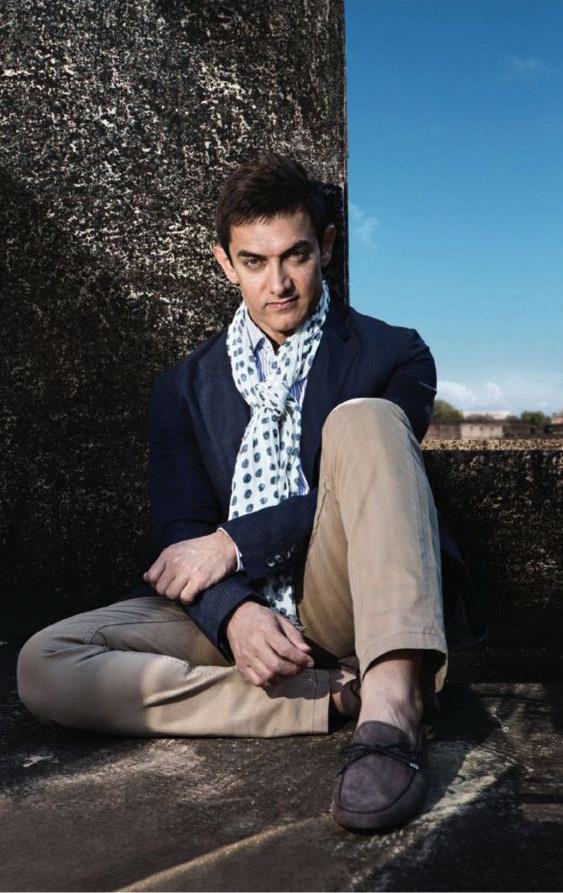 Aamir Khan Cute Stylish Look Photo Shoot For Women's Day Special Edition Of Femina 2013