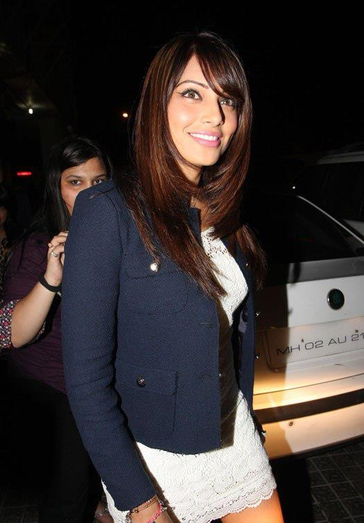 Bipasha Spotted In A White Short Dress With A Over Coat At Special Screening Of Race 2