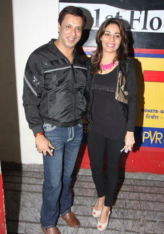 Madhur With Wife Renu Make An Appearance At Special Screening Of Race 2