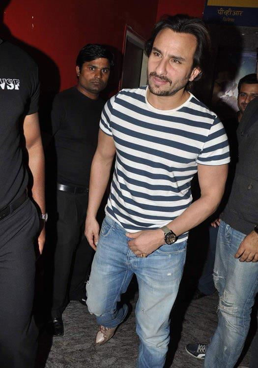 Saif Ali Photo Clicked At Special Screening Of Race 2