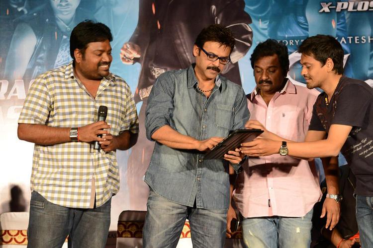 Meher Ramesh,Venkatesh And V. V. Vinayak Nice Still At Shadow Movie Title Track Release Function