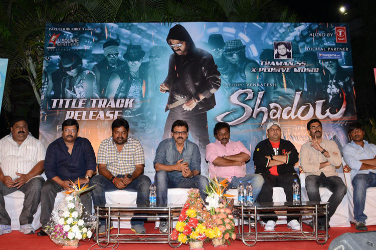 Paruchuri Prasad,Kona Venkat,Meher Ramesh,V. V. Vinayak And Venkatesh Graced At Shadow Movie Title Track Release Function