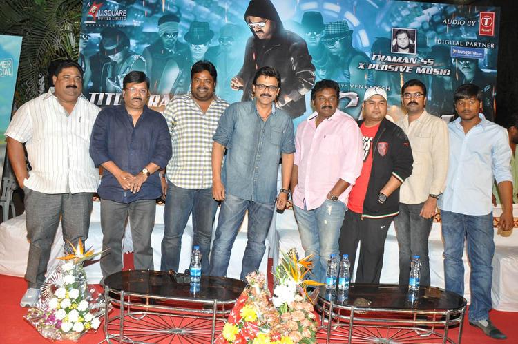 Paruchuri Prasad,Kona Venkat,Meher Ramesh,Venkatesh And V. V. Vinayak Attend The Shadow Movie Title Track Release Function