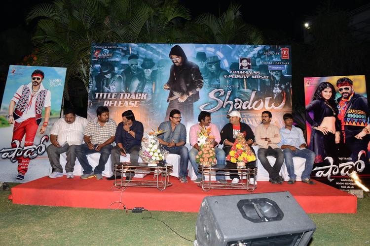 Paruchuri Prasad,Kona Venkat,Meher Ramesh,Venkatesh And V. V. Vinayak At Shadow Movie Title Track Release Function