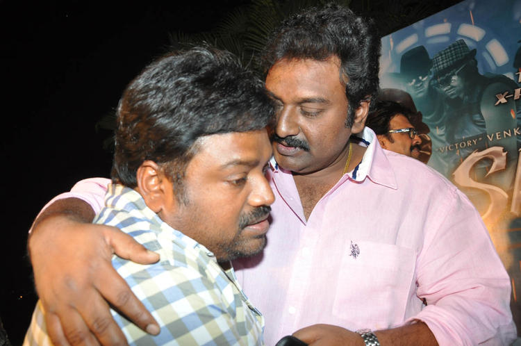 V. V. Vinayak And Meher Ramesh Cool Pose At Shadow Movie Title Track Release Function