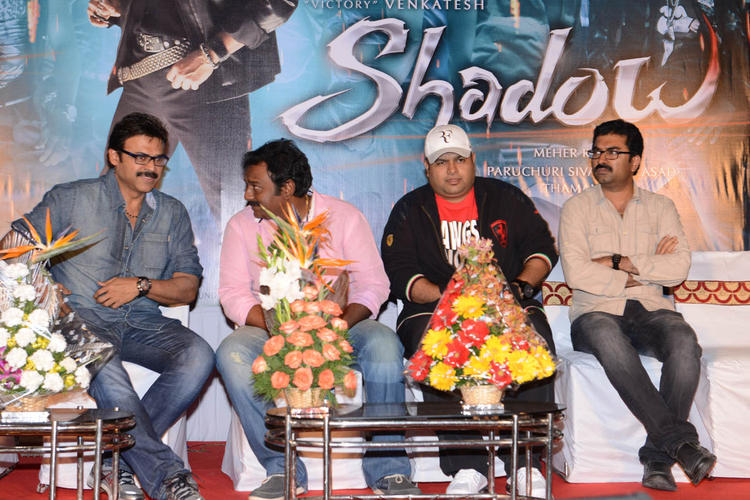Venkatesh And V. V. Vinayak Discussion Still At Shadow Movie Title Track Release Function
