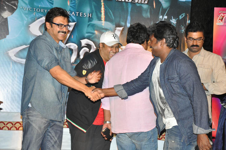 Venkatesh Shakes His Hands With Smiling Look At Shadow Movie Title Track Release Function