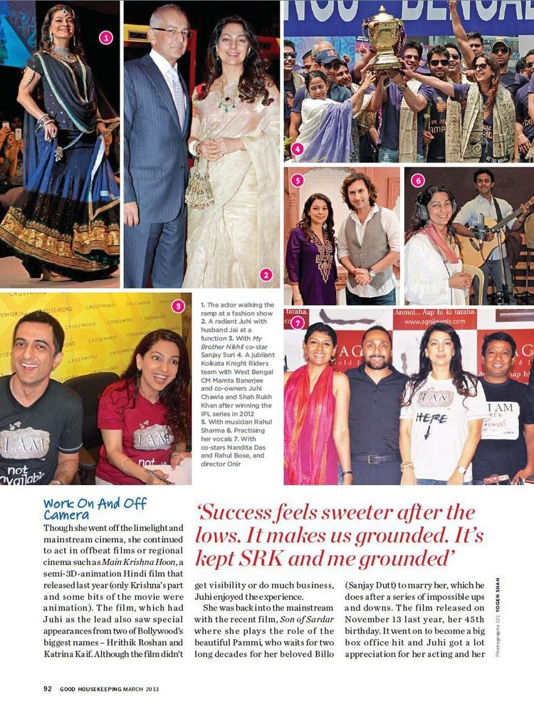 Juhi Chawla Different Photo In Good Housekeeping India March 2013