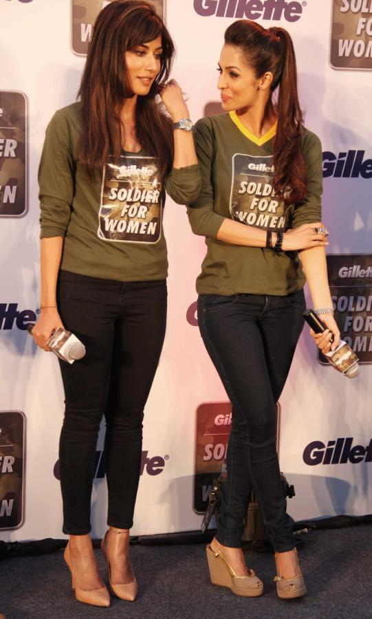 Chitrangada And Malaika Cool Chatting Look At Gillette's Soldier For Women Promotional Event