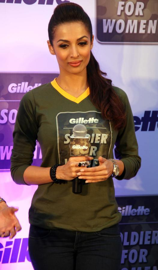 Malaika Arora Khan Attend The Gillette's Soldier For Women Promotional Event