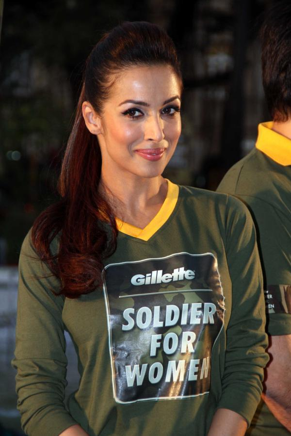 Malaika Arora Khan Flashes Smile At Gillette's Soldier For Women Promotional Event